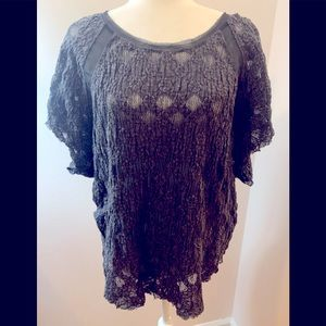 Free People top, charcoal short sleeve, size L